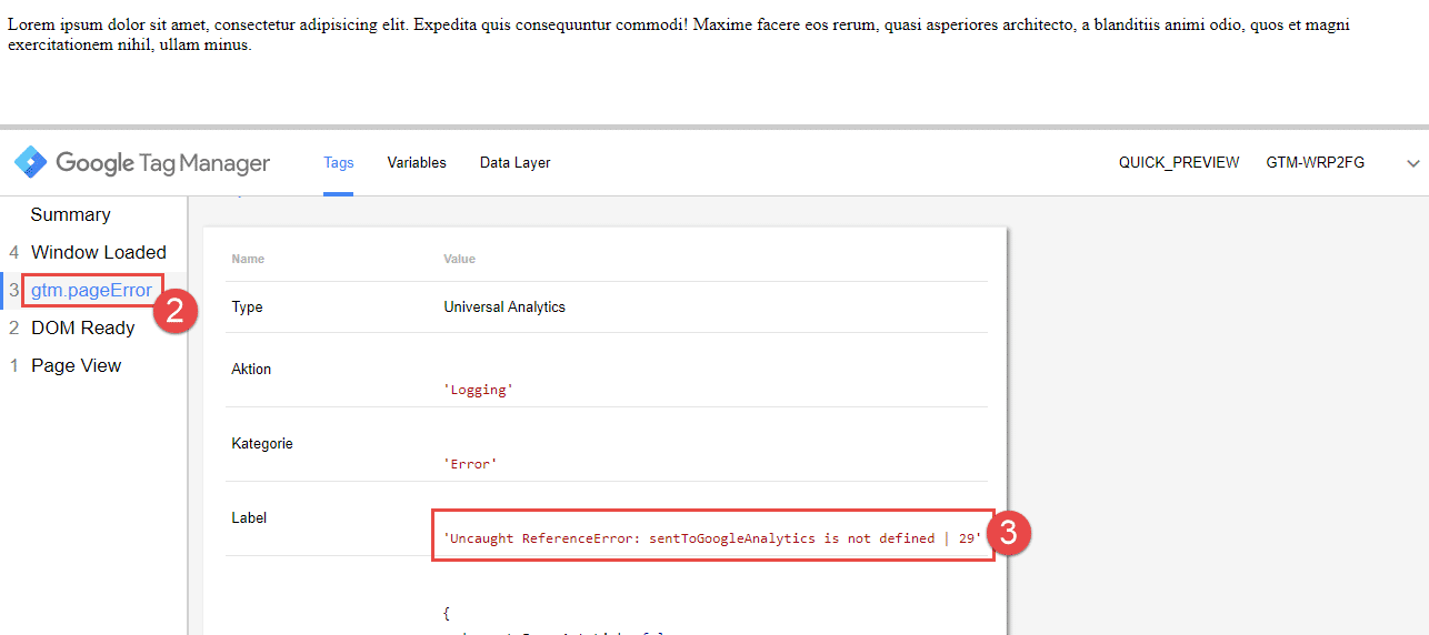 Google Tag Manager Fehler Trigger1
