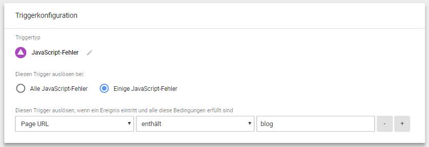 Google Tag Manager Triggerkonfiguration