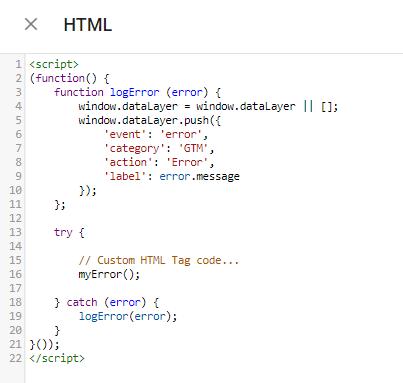 Benutzerdefinierter HTML Trigger